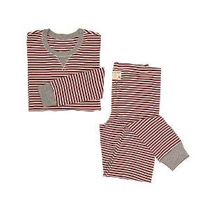 Womens Organic Candy Cane Stripe Pajama Set