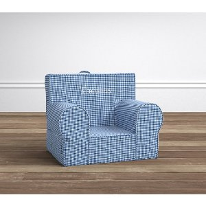 Blue Gingham My First Anywhere Chair® | Pottery Barn Kids