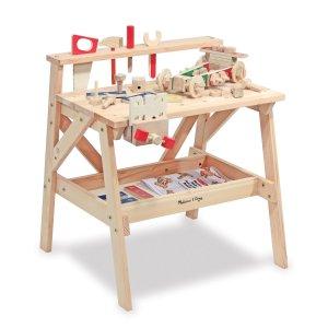 Melissa & Doug 木质工作台建筑积木玩具