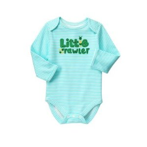 Baby Teal Stripe Little Crawler Bodysuit by Gymboree