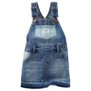 Toddler Girl Hickory Stripe Pocket Denim Jumper | OshKosh.com