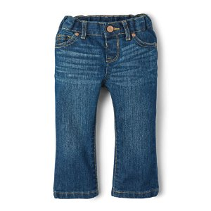Toddler Girls Basic Bootcut Jeans - Indigo Stone Wash | The Children's Place