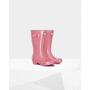 Kids Pink Gloss Rain Boots 儿童款雨靴