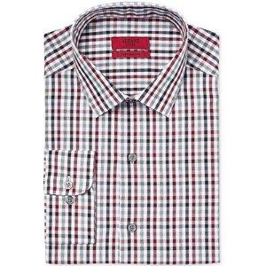 Alfani RED Men's Fitted Merlot Gingham Dress Shirt, Only at Macy's - Dress Shirts - Men - Macy's