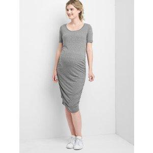 Maternity ruched t-shirt dress