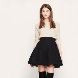 JAKE Short skirt in basketweave knit - Skirts & Shorts - Maje.com