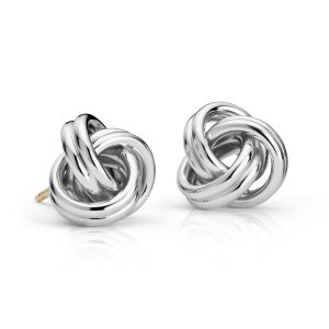 Love Knot Earrings in Sterling Silver | Blue Nile