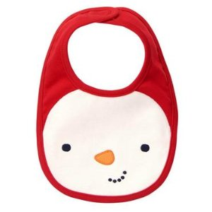 Baby Holly Red Snowman Reversible Bib by Gymboree