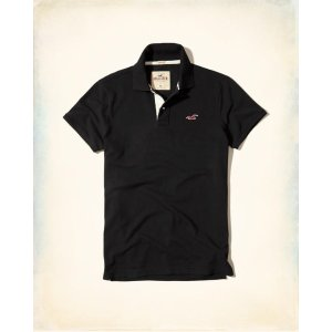 Guys Stretch Pique Icon Polo | Guys Up to 50% Off Summer Sale | HollisterCo.com