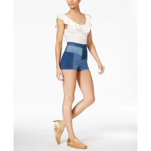 Free People Uh Huh Bodysuit & Patchwork Shorts - Free People - Women - Macy's