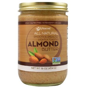 Vitacost All Natural Smooth & Unsalted Lightly Toasted Almond Butter -- 16 oz (454 g)