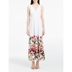 floral cotton voile maxi dress | Calvin Klein