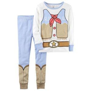 2-Piece Cowgirl Snug Fit Cotton PJs