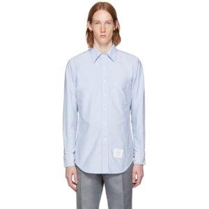 Blue Detachable Collar Shirt