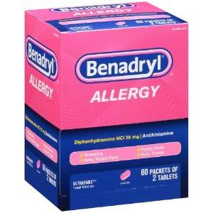 Benadryl Allergy Ultratabs, 25 mg, 120 Ct | Jet.com