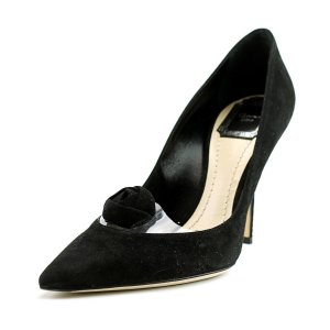 Christian Dior Christian Dior Miracle Pump Pointed Toe Suede Heels | Bluefly.Com