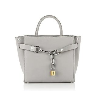 EXCLUSIVE ATTICA LARGE SATCHEL IN HEATHER GRAY