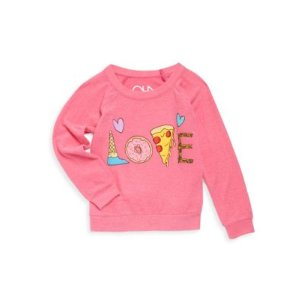Little Girl's & Girl's Yummy Love Knit Pullover