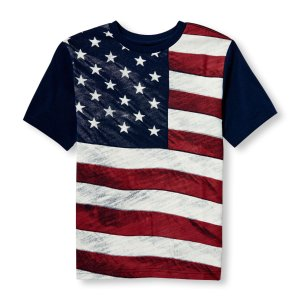 Boys Americana Short Sleeve Flag Graphic Tee | The Children's Place