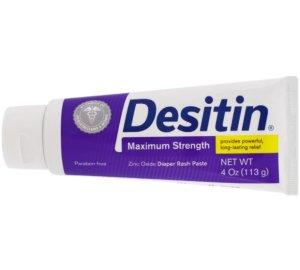 $3.6Desitin Baby Diaper Rash Maximum Strength Original Paste, 4 Oz Tube