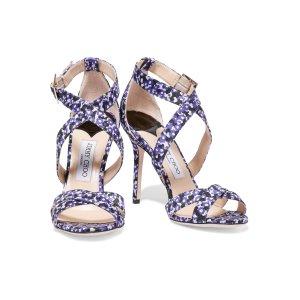 Lottie floral-jacquard sandals | Jimmy Choo