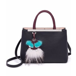 Fendi - 2Jours Petite Mink & Fox Fur-Detail Leather Shopper - saks.com