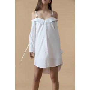 Off-Shoulder High Low Mini Dress – Genuine People