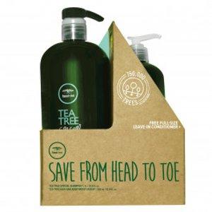 Tea Tree Special Shampoo w/ Hair & Body Moisturizer Liter Duo