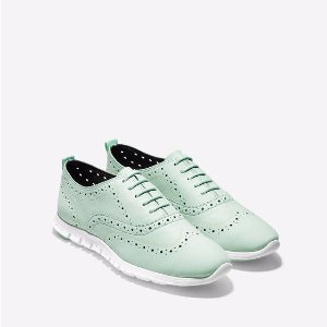 ZEROGRAND Wingtip Oxfords in Seafoam | Cole Haan Outlet