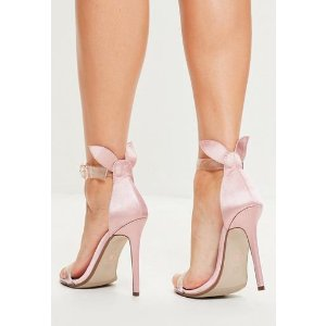 Missguided - Nude Bunny Ear Strappy Sandals