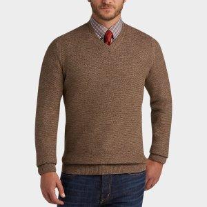 Joseph Abboud Light Brown V-Neck Sweater - Men's Sweaters | Men's Wearhouse