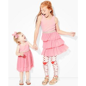 Girls Swish Sparkle Dress With Tulle Tiers | Sale Special $25 Dresses Girls