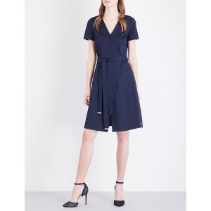 TED BAKER - Colour by Numbers advina stretch-cotton dress
