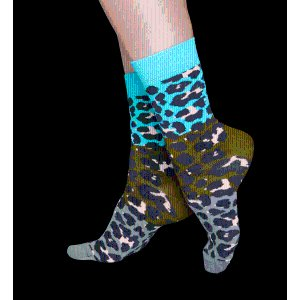 Black and Pink Animal Colorful Leopard Socks For Men and Women.