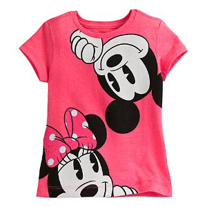 Mickey and Minnie Mouse Tee for Girls | Disney Store