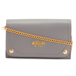 Made In Italy Leather Wallet On A Chain - New Arrivals