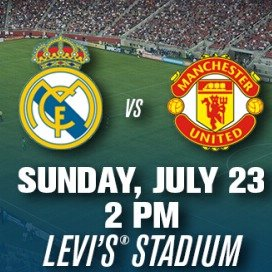 as low as $85 REAL MADRID C.F. VS. MANCHESTER UNITED F.C.