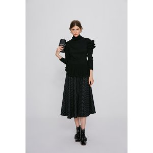 TURTLENECK SWEATER WITH RUFFLE DETAILS TP1993