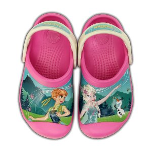 Frozen Fever Party Pink & Oyster Clog
