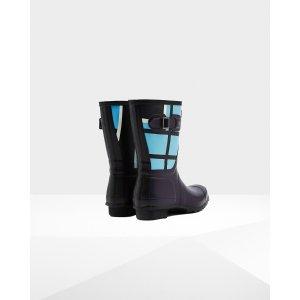 Women's Original Short Tartan Rain Boots   Official Hunter Boots Site