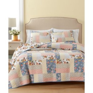 Martha Stewart Collection Fair Breeze Reversible Quilt and Sham Collection, Created for Macy's