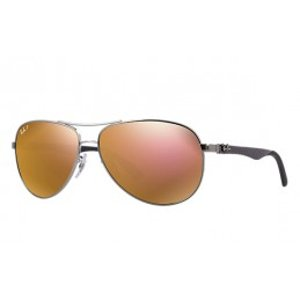Polarized Gunmetal Aviator Sunglasses