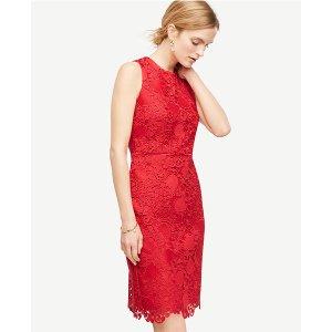 Spring Lace Sheath Dress