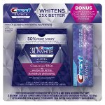 Crest 3D White Luxe Whitestrips Dental Teeth Whitening Strips Kit (21 Treatments) + BONUS Crest 3D White Radiant Mint Toothpaste