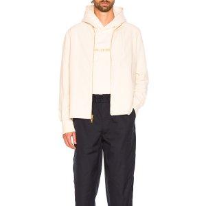 Aime Leon Dore Full Zip Shirt in Cream