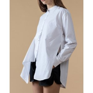 Side Slits Button Front Shirt