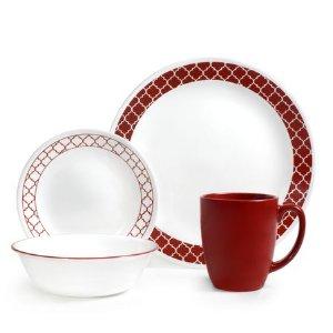 Corelle® Livingware™ Crimson Trellis 16-pc Dinnerware Set