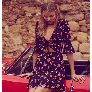 For Love & Lemons - Laney Lou Sheer Panel Mini Dress - saks.com