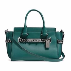 Chain Leather Satchel