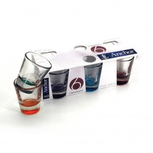 Anchor Hocking 6pk Assorted Color Shot Glasses - Summer Tent Sale - Sale